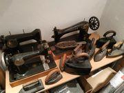 Nähmaschinen und Bügeleisen