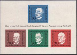BRD: MiNr. 554 - 437 Bl. 4, 19.04.1968,