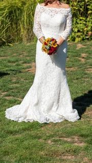 Meerjungfrau Brautkleid White One Größe