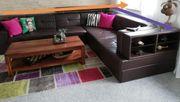 Schöne Teil-Leder Eck Couch
