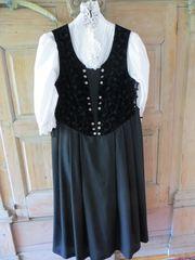 Samtkleid Abendkleid Trachtenkleid schwarz Trachtenbluse