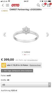 Diamant Ring weis Gold