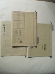 70 hellbraune DIN-A4 Hängeregistratur-Mappen