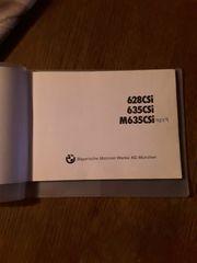 Betriebsanleitung BMW 628CSi 635CSi M