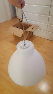 Milchglas-Pendelleuchte Deckenlampe MESA von Casablanca