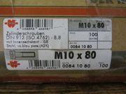 Zylinderschraube M 10 x 80