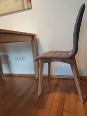2 Stühle skandinavisches Design grau