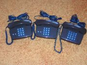 3 x Telefon Original-Retro Bundespost