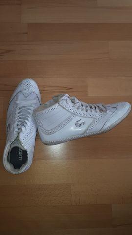 Schuhe, Stiefel - getragene gebrauchte Lacoste Schuhe weiß