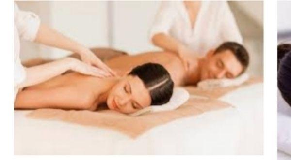 Aromaöl-Paar-Massage