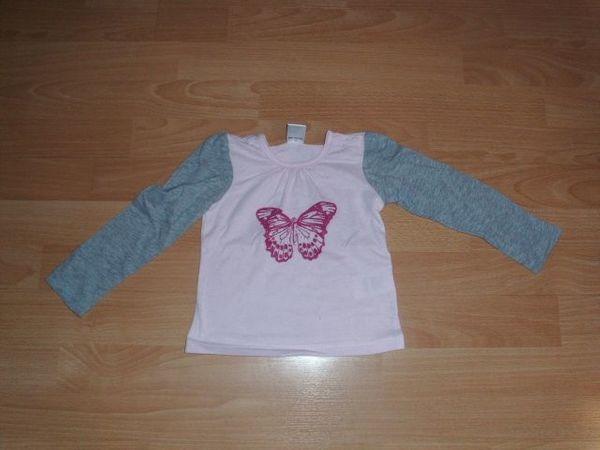 Langarmshirt von Papagino rosa-grau mit