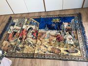 Antiker Wandteppich Jagdszene Beduinen