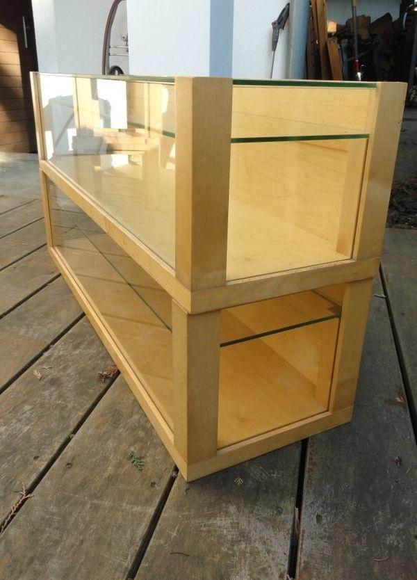 2 Vitrinen aus Holz und Glas in Mannheim - Sonstige ...