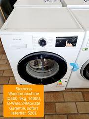 Siemens Waschmaschine IQ500 9kg 1400U
