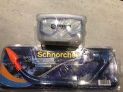 Schnorchel plus Taucherbrille zu verkaufen -