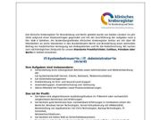IT-Systembetreuer IT-Administrator m w d