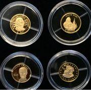 4 Stk kleine Goldmünzen 999