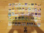 50 alte Pokemon Karten und