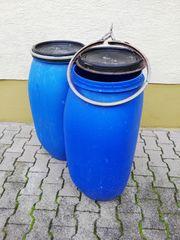 15 blaue Kunststoff-Fässer gebraucht
