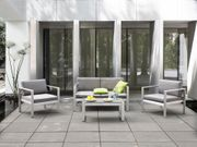Gartenmöbel Set Aluminium 4-Sitzer Auflagen