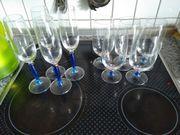 Gläser - Sektgläser - Biertulpen mit blau