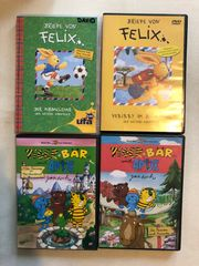 4 DVDs Tiger Bär Antje
