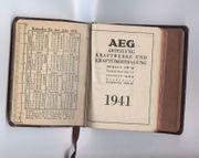 AEG 1941 Kalender - Taschenkalender - Taschenkalenderbuch