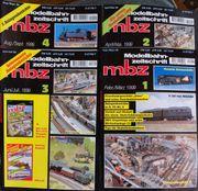 Modellbahn Zeitschrift MBZ Febr März1999-Aug