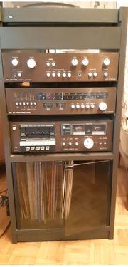 Stereoanlage mit Plattenspieler inkl Möbel