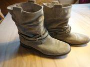 Echt Leder Boots Stiefeletten Stiefel