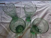 Gläser Coca Cola grün