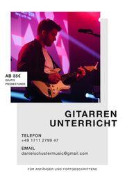 Online Gitarrenunterricht - Akkustik oder E-Gitarre
