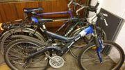 drei alte Fahrräder