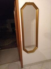 Spiegel mit Goldrand