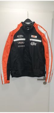 Motorradjacke Fast Lane oranke schwarz