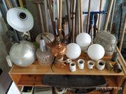 alte Lampen Lampenfassungen Lampenschirm Shabby