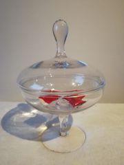 Bonboniere Glasschale mit Deckel Bonbonglas