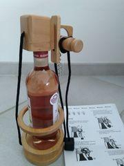 Flaschenhalter aus Holz Geduldspiel Philos