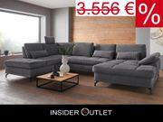 -50 Wohnlandschaft 363x223cm Federkern Costello