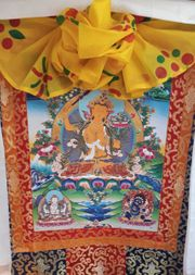 Deko Ttibetischer Wandbehang Tangka Buddha