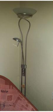Stehlampe Deckenfluter mit Zusatzleuchte