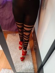 biete getragene leggins an