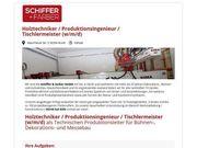 Holztechniker Produktionsingenieur Tischlermeister m w