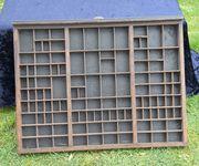 Buchdruck Setzkasten Orginal U-Ei-Regal Miniatur