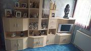 Wohnzimmer Jugendschrank in Birke-Nachbildung mit
