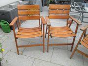 3 Classic Holz Gartenstühle