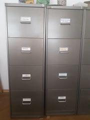 3 - BISLEY Hängeregistraturschränke - 4 Schubladen