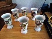 Sechs Porzelankelche von Franklin Porcelain