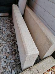 Rasenkantensteine beige 5Stk 100x25x8