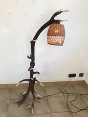 Stehlampe Geweih Lampe Rotwild Jäger